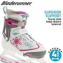 Supportive kids ice skates