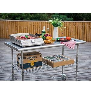 Amazon.com: Royal Gourmet - Mesa de acero inoxidable: Jardín ...