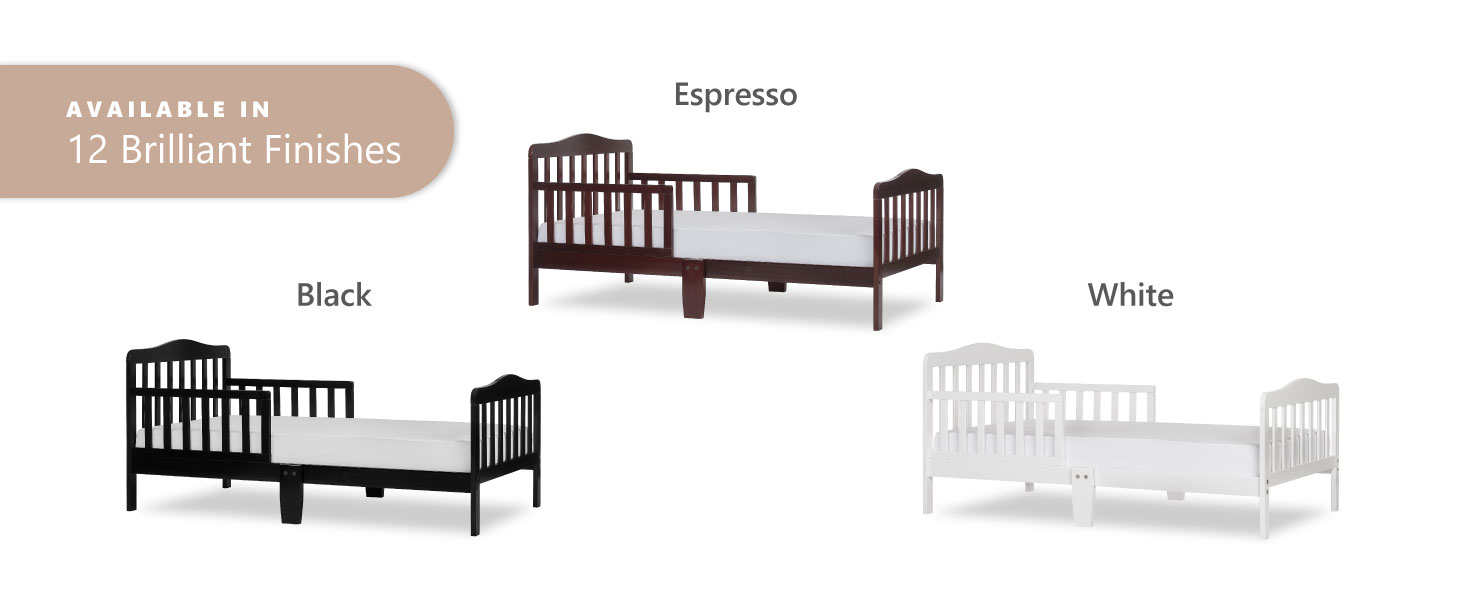 dream on me toddler bed in cherry,baby toddler bed in black,convertible toddler bed, convertible bed