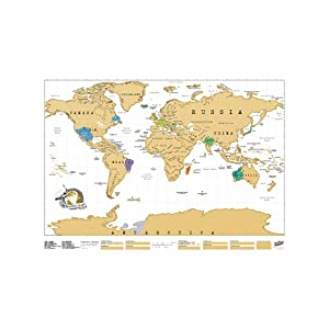 Amazon Com Scratch Map Original Scratch Off Map Personalized World