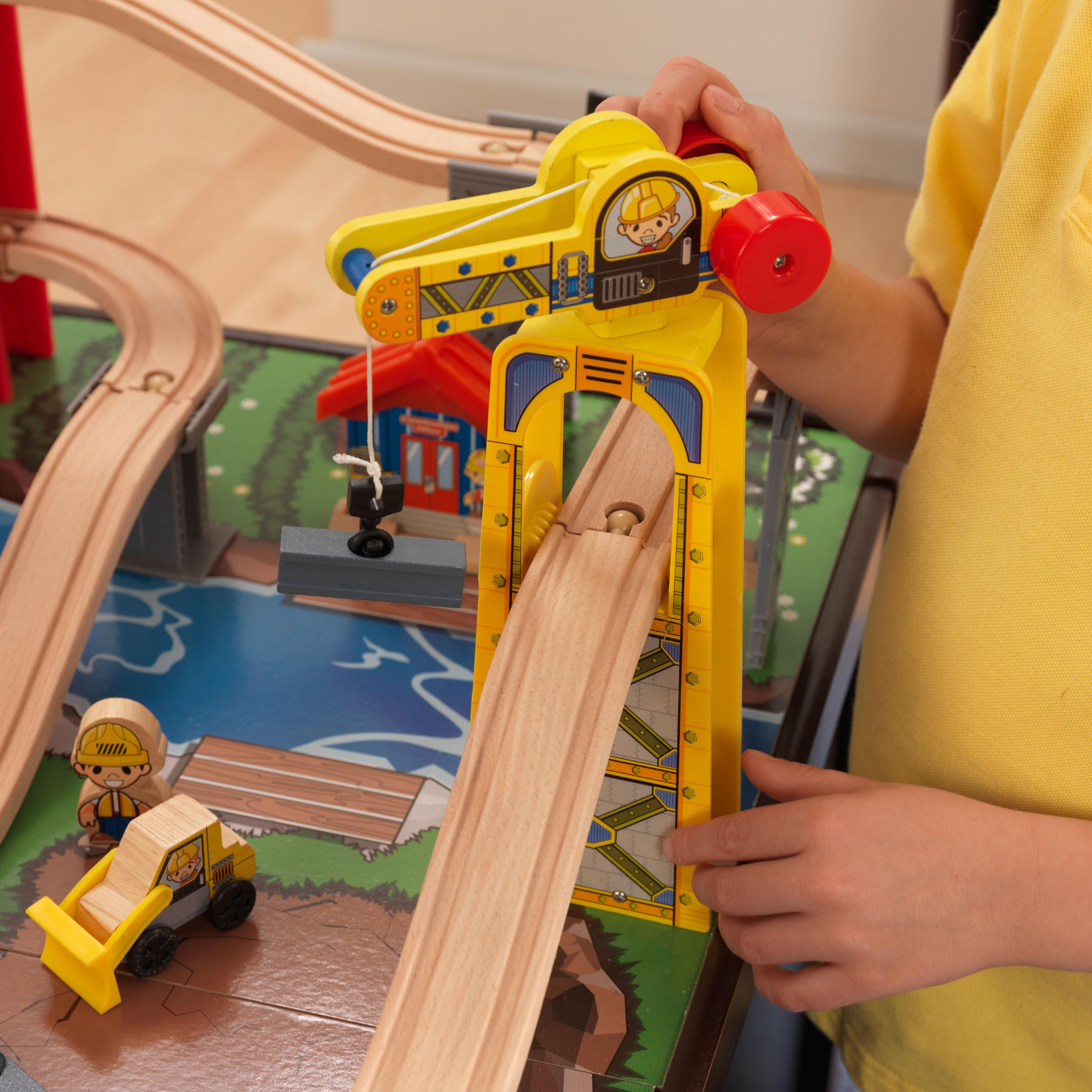 Train Set Table With Drawers Amazoncom Metropolis Train Table Set Toys Games