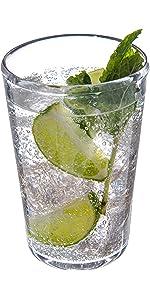 high ball glass; shatteproof drinkware; shatterproof tumbler; fancy tumbler; classy tumbler