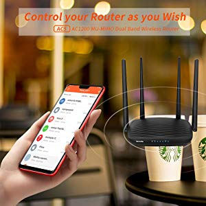 Manage your router via smart Tenda WiFi App anytime anywhere