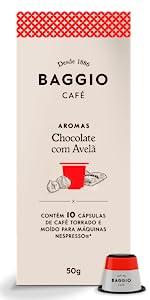 Chocolate com Avelã Cápsulas Baggio Café Nespresso