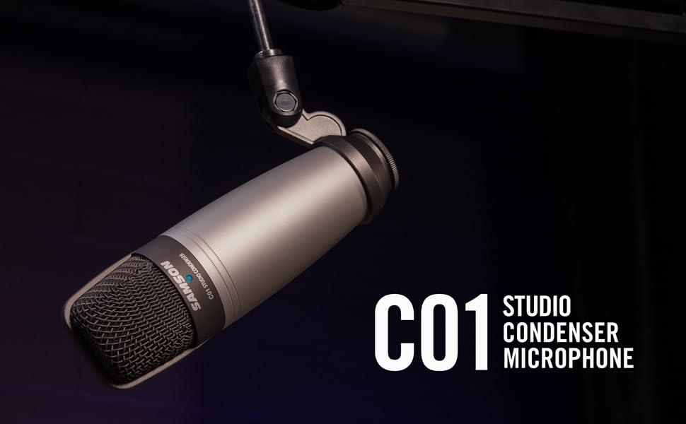 C01 Studio Condenser Microphone Header Image