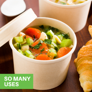 Great for hot and cold foods, these togo containers for food can hold all types of meals.