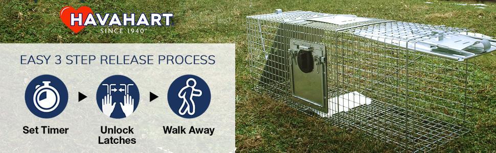 Amazon.com: Havahart grande Animal jaula trampa de 2 puertas ...