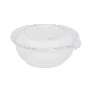 Karat 24oz PET Tamper Resistant Hinged Salad Bowl with Dome Lid