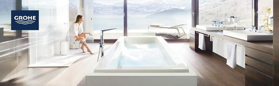 grohe lineare einhand waschtischbatterie s size mit zugstange 1 st ck 32114001. Black Bedroom Furniture Sets. Home Design Ideas