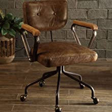 Vintage Whiskey Top Grain Leather Executive Office Chair