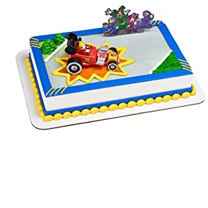 Mickey and the Roadster Racers DecoSet, Cake Topper, DecoPac