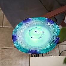 Xbrand Aromatherapy Floor Mist Fountain W Inline Control 27 Inch Tall Blue Home Kitchen