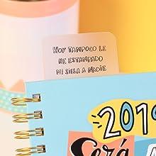 Pedrita Parker - Agenda escolar 2018 2019 con mensaje Un año fuera de serie, A5, color azul