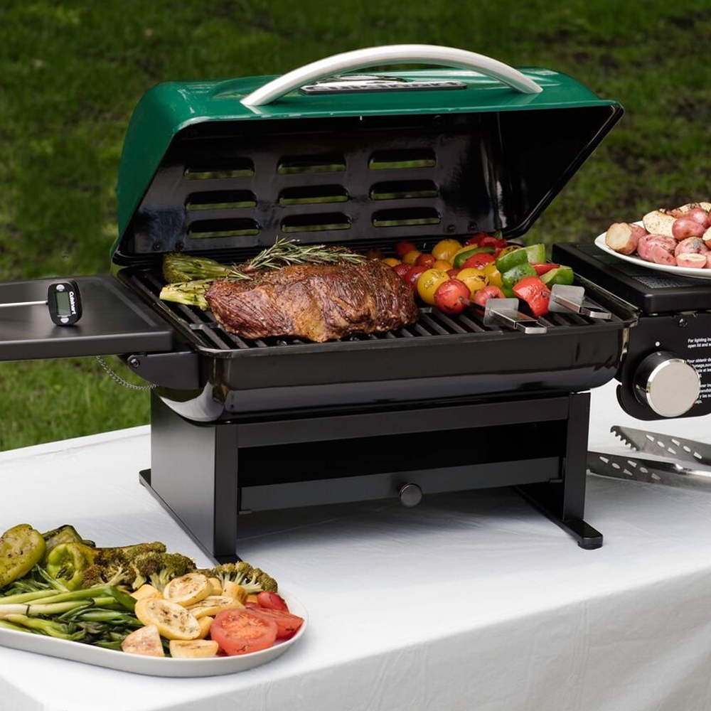 cuisinart cgg 220 everyday portable gas grill green outdoor tabletop grills. Black Bedroom Furniture Sets. Home Design Ideas