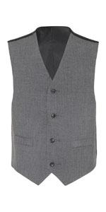 black vest; black vest; black suit; chaps black shrt; grey shirt; white long sleeve shirt; chaps