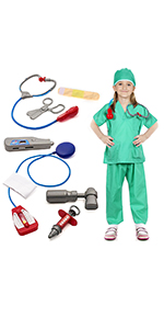Doctor Surgeon Costume Kids Role Play Costume Set