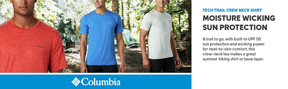 Columbia Mens Tech Trail Crew Neck