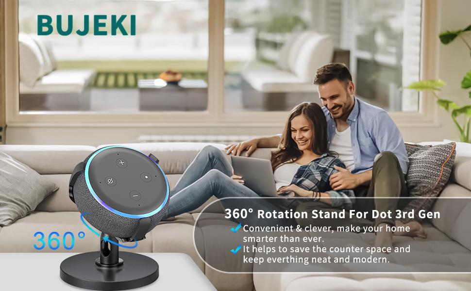 Soporte Dot 3 Ajustable de 360 /° para Altavoces de Smart Home Mejora la Visibilidad y Apariencia del Sonido Dot Accesorios 2./ª generaci/ón Dot 2 Zeeanker Mesa Soporte para Echo Dot