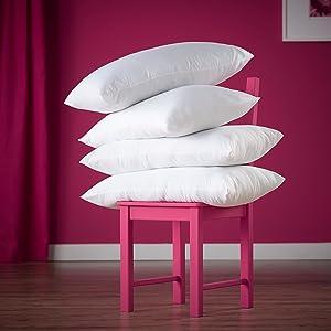 Slumberdown Super Support Pillow Pair White Amazon Co Uk