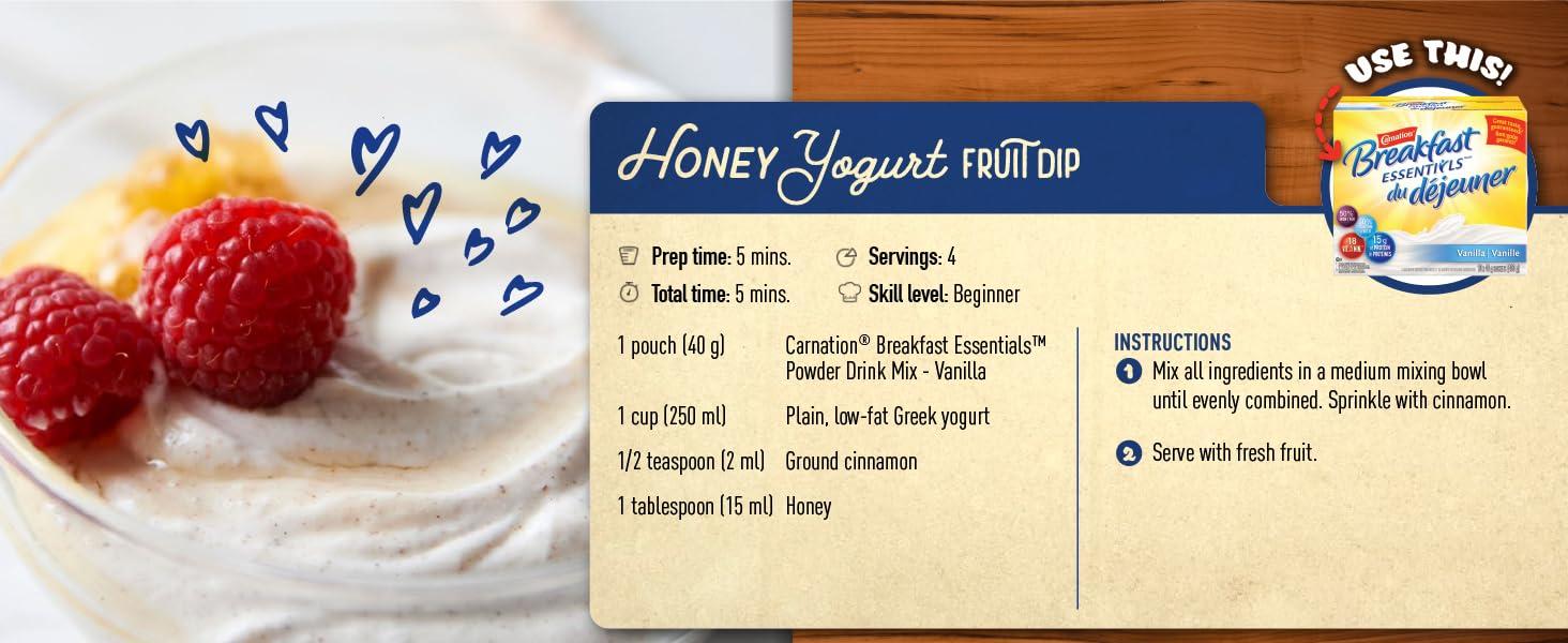 honey yogurt fruit dip carnation breakfast essentials