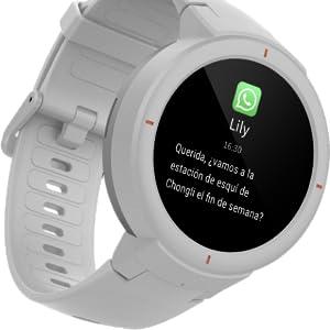Amazfit Verge Xiaomi Smartwatch Deportivo - Reloj Deportivo GPS | Sensor de Frecuencia Cardíaca | IP68:Resistencia al Agua | Reproduce Música | Azul ...