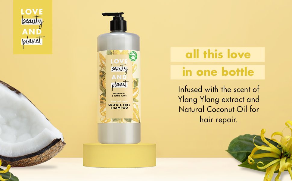 With Ylang Ylang extract and Natural Coconut Oil.