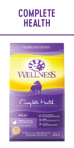 Grain Free dry dog food, grain free dog food, wellness large breed complete health, complete health