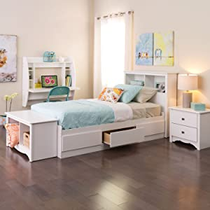 1f90ea7f3b627 Amazon.com - Black Twin Mate s Platform Storage Bed with 3 Drawers ...