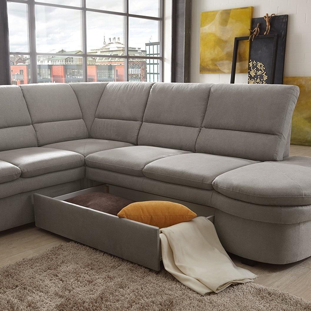 cavadore ecksofa gingle sofa mit federkern schlaffunktion und hochwertigem mikrofaser bezug. Black Bedroom Furniture Sets. Home Design Ideas