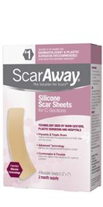 ScarAway Silicone Scar Sheets for C-sections 4 count