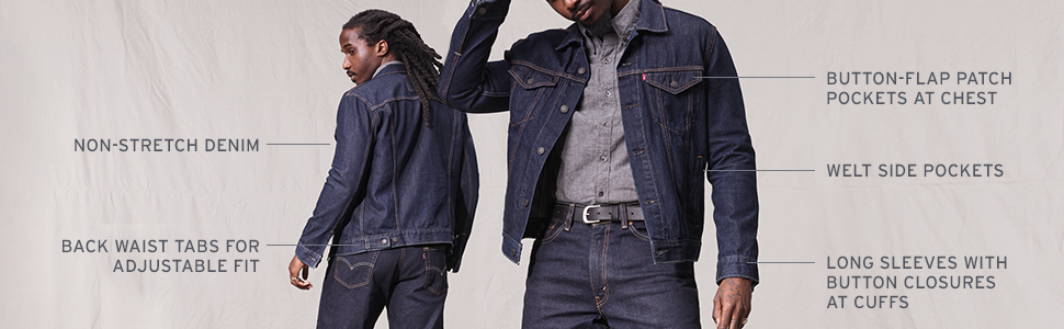 Levi's Denim Trucker Jacket Fit & Features