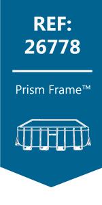 Intex 26778NP - Piscina desmontable Prisma Frame 488 x 244 x 107 ...