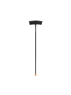 M Solid Plastique Largeur : 37,5 cm 1025930 Fiskars Balai multiusage livr/é sans manche avec poils PowerClean Noir