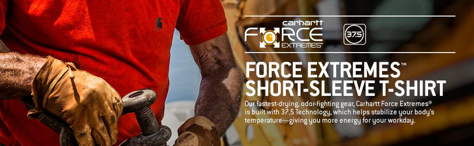 332954a13 Amazon.com: Carhartt Men's 101545 Force Extremes&Trade; Short Sleeve ...