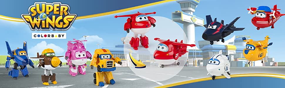 Super Wings - Donnie, personaje transformable, 13.5 cm
