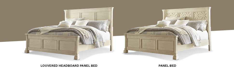 louvered headboard panel bed frame footboard rails twin full queen king size modern