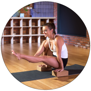 """Prosource Fit Natural Cork Yoga Blocks Set of 2 for Support, Balance, and Flexibility 3""""x6""""x9"""""""