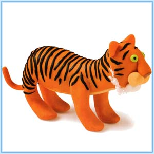 Modeling Clay Animals, tiger, modeling clay, clay tiger, spots leopard