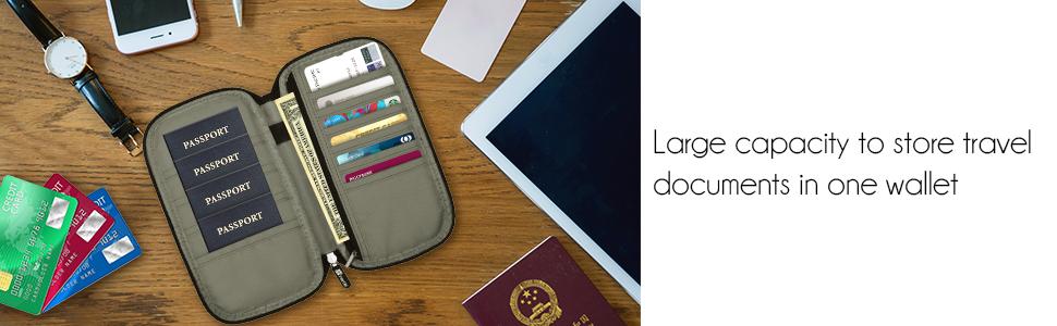 zipper passport bag