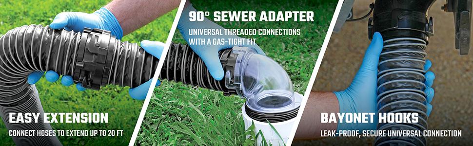 Easy Extension, Valterra, Sewer Adapter