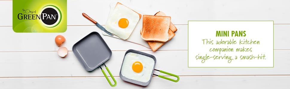 Amazon Com Greenpan Mini Ceramic Non Stick Round Egg Pan