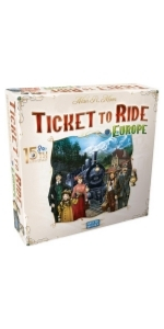 ticket to ride europe 15th anniversary board game