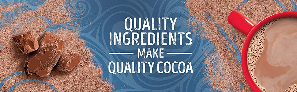 Quality ingredients make quality cocoa inside Swiss Miss hot chocolate.