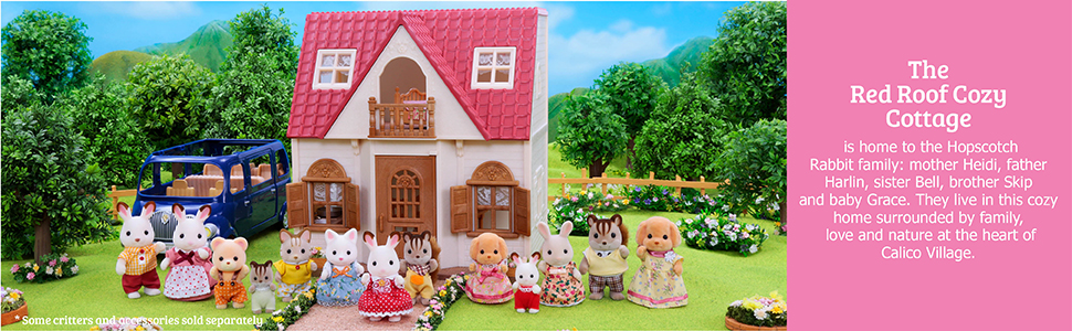 calico critters red roof country home gift set calico critters red roof cozy cottage