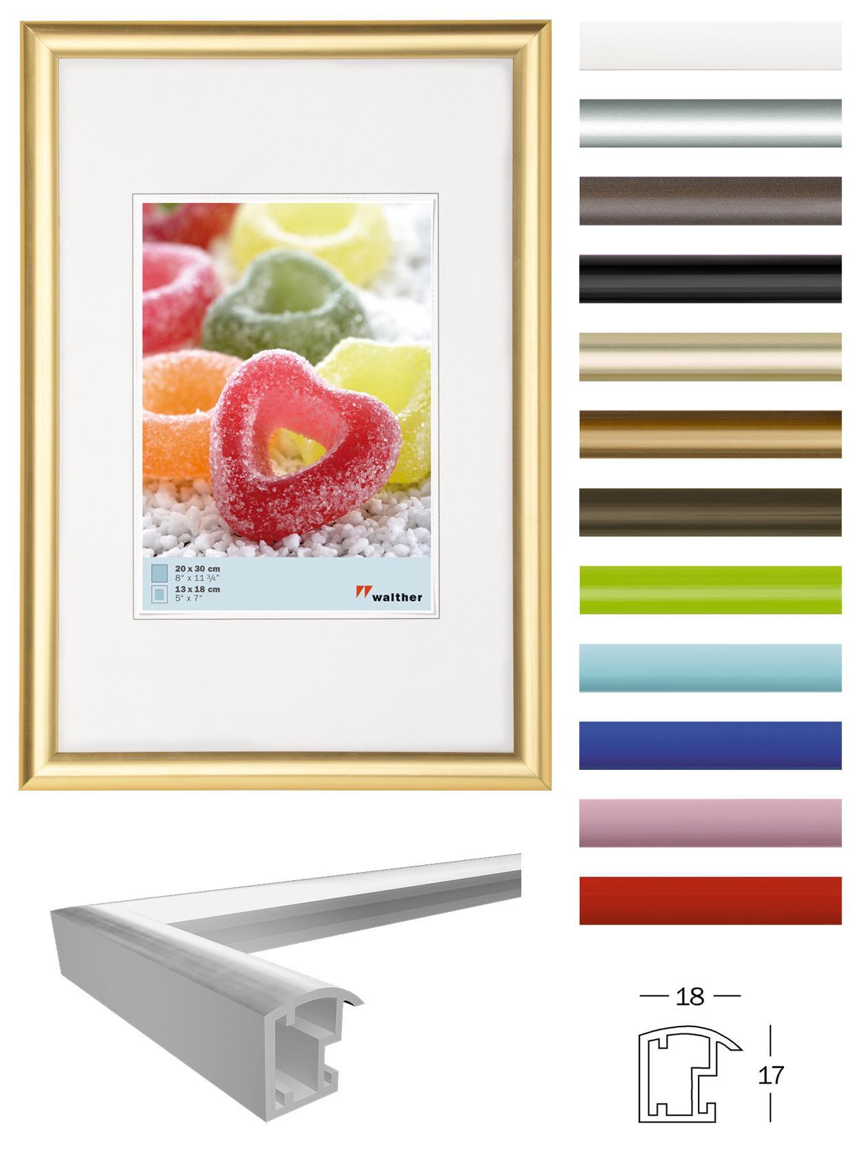 walther design kp030u bilderrahmen plastik t rkis 20 x 30 cm. Black Bedroom Furniture Sets. Home Design Ideas