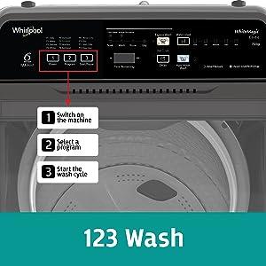 123 wash, Control Panel