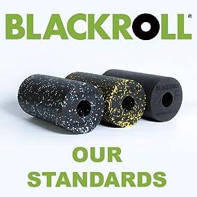 """Belt - Blackroll Standard Foam Roller 18"""" x 7"""" - Black"""