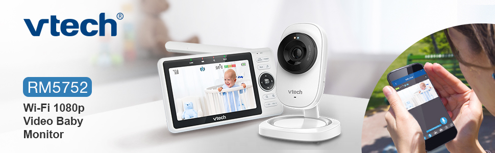 VTECH wi-fi 1080p video baby monitor remote access