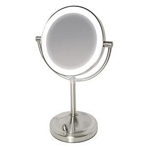 Homedics Beauty Spa Double Sided Mirror With Dimmable Led