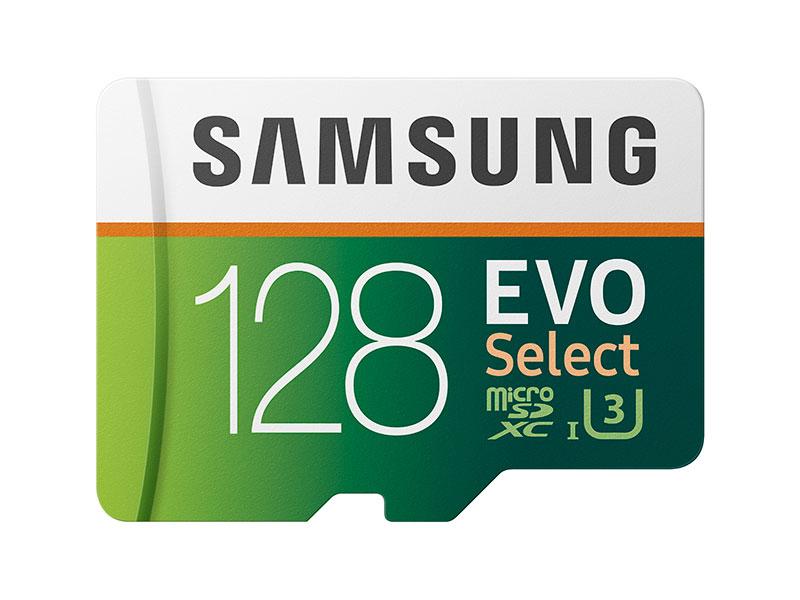 Samsung 128GB MicroSDXC EVO Select Memory Card